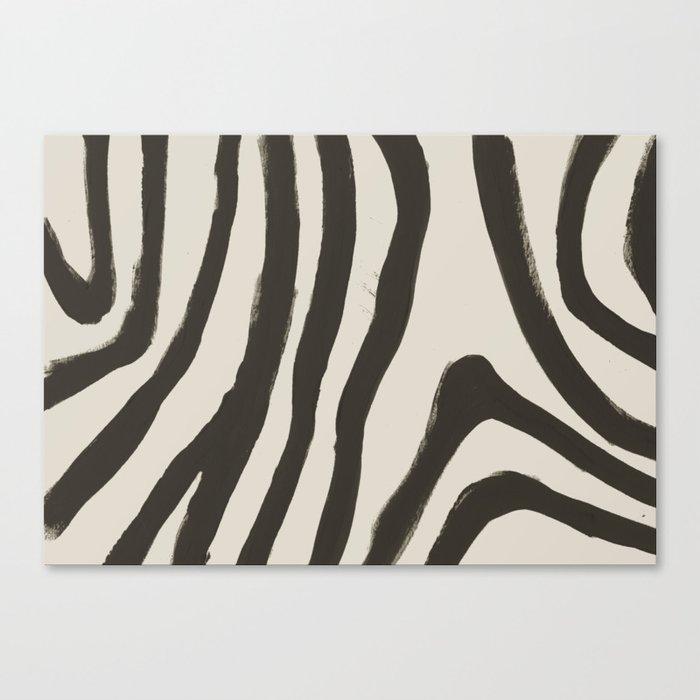Painted Zebra Leinwanddruck