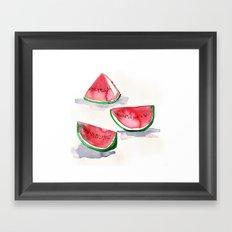watermelon sketch Framed Art Print