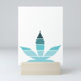 Marijuana Leaf Vintage Retro Sunset Inspired Design graphic Mini Art Print