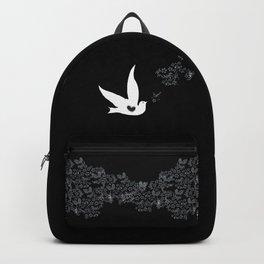 Wings of Love - Black Backpack