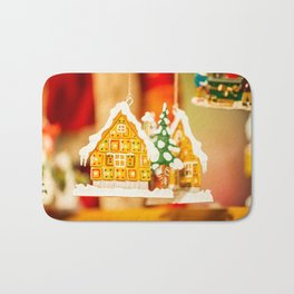 Christmas decorations in Alsace, France. Bath Mat