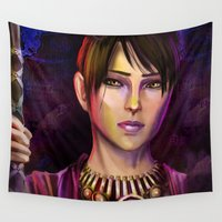 witch Wall Tapestries featuring Witch by Sara Cooley