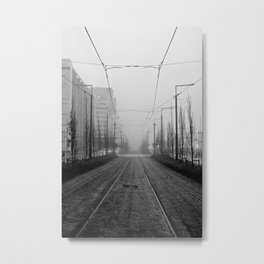 Foggy tramtracks Metal Print