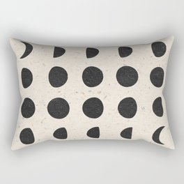 Moon Phases Black Rectangular Pillow