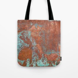 Tarnished Metal Copper Texture - Natural Marbling Industrial Art Tote Bag