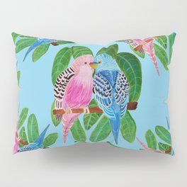 Budgie kiss Pillow Sham