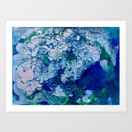 Imagined Ocean View From Above Art Print