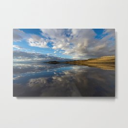 Reflections At The Great Salt Lake Metal Print
