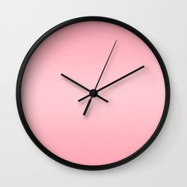 Pink to Pastel Pink Horizontal Bilinear Gradient Wall Clock