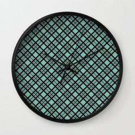 beautiful plaid 2 Wall Clock