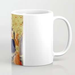 """Fra Angelico """"Madonna and Child Enthroned with Nine Angels and Saints Dominic and Catherine"""" Coffee Mug"""