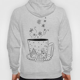 A cup of snow flakes Hoody