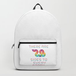 There are 20 sides to every story Backpack
