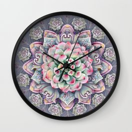 succulent mandala 5 Wall Clock