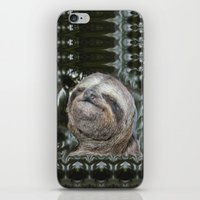 sloth iPhone & iPod Skins featuring Sloth by Bruce Stanfield