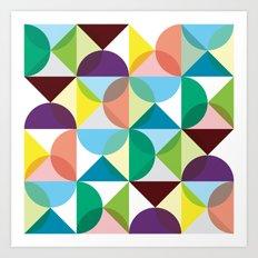 Geometric pattern Art Print