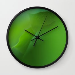 Close up of green leaves. Background. Wall Clock