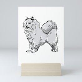 Samoyany Sled Dog Samoeds Gift Mini Art Print