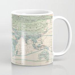 Vintage World Forest Map (1870) Coffee Mug