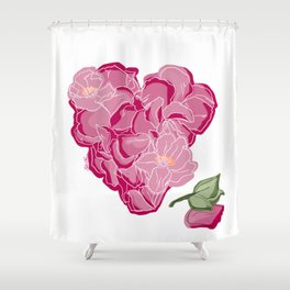 Heart of flowers Shower Curtain