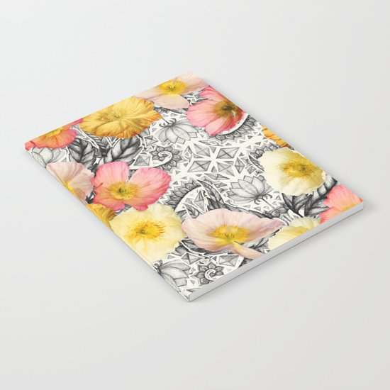 Collage of Poppies and Pattern Notebook