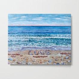 Ocean Waves of Love Metal Print