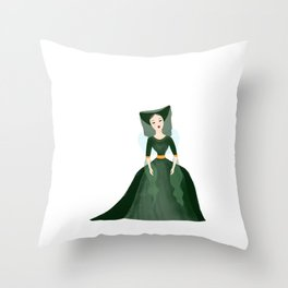 Fauna, the Green Fairy Throw Pillow