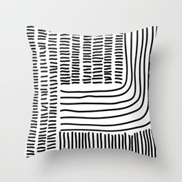Digital Stitches thick white Throw Pillow