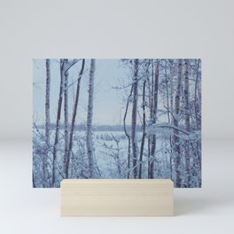 Untitled snowscape Mini Art Print