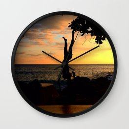 The Falling Tree Wall Clock