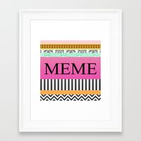 meme Framed Art Prints featuring Meme by Be Raza