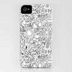 Infinity Robots Black & White iPhone (4, 4s) Slim Case