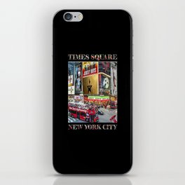 Times Square II (widescreen on black) iPhone Skin
