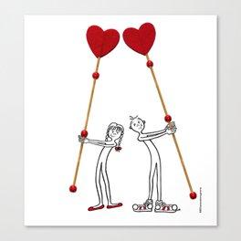 DIDI in love Canvas Print
