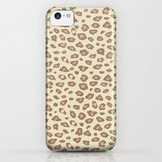 Pink Cream Leopard Print iPhone 5c Slim Case