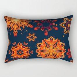 warm watercolor snowflakes Rectangular Pillow