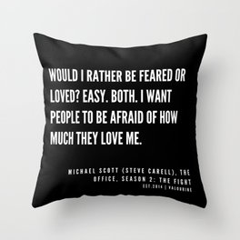 6  |  Office Quote Series  | 190611 Throw Pillow