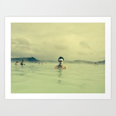 Public Bathing Art Print