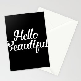 Hello Beautiful - Black and White Stationery Cards