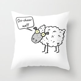 Shear Me Throw Pillow
