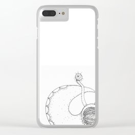 Angry slug Clear iPhone Case