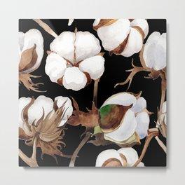 Cotton Flower Pattern 03 Metal Print