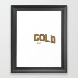 Go Gold Framed Art Print