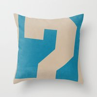 doctor who Throw Pillows featuring Doctor  Who? by Travis English