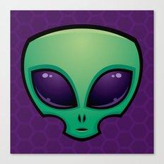 Alien Head Icon Canvas Print