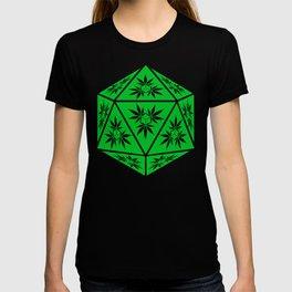 D20 Pot Leaf Crit Dice T-shirt