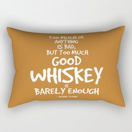 Good Whiskey Quote - Mark Twain Rectangular Pillow