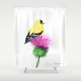 Little Goldfinch by Teresa Thompson Shower Curtain