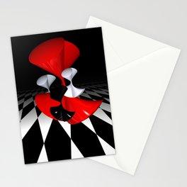 polynomails on harlekin - patterned plane Stationery Cards