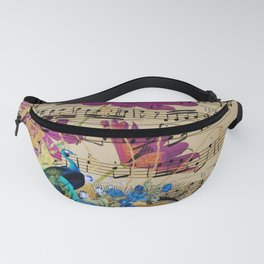 Feather Peacock 19 Fanny Pack